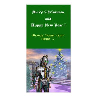 NEW YEAR'S EVE OF A CYBORG CUSTOM PHOTO CARD