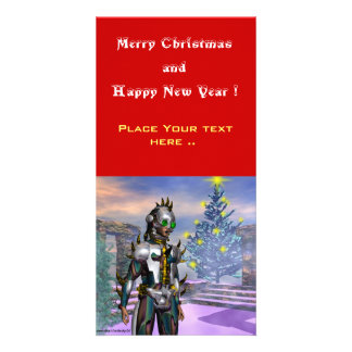 NEW YEAR'S EVE OF A CYBORG CUSTOMIZED PHOTO CARD