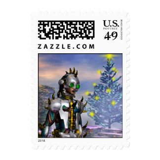 NEW  YEAR'S EVE OF A CYBORG DROPPE... POSTAGE