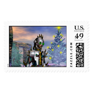 NEW  YEAR'S EVE OF A CYBORG DROPPED FROM  FUTURE STAMP