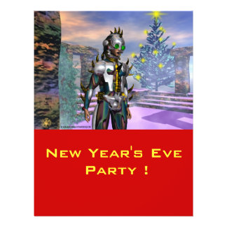 NEW YEAR'S EVE OF A CYBORG FLYER DESIGN