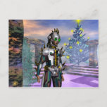 NEW YEAR'S EVE OF A CYBORG HOLIDAY POSTCARD