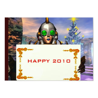 NEW YEAR'S EVE OF A CYBORG 5X7 PAPER INVITATION CARD
