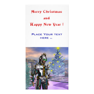 NEW YEAR'S EVE OF A CYBORG PHOTO CARD TEMPLATE