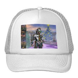 NEW YEAR'S EVE OF A CYBORG TRUCKER HAT