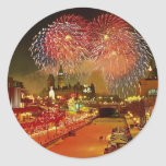 New Year's Eve, Ottawa, Ontario, Canada Round Stickers