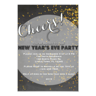 New Year's Eve Party 3.5x5 Paper Invitation Card