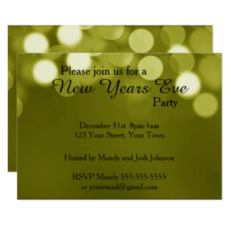 New Yearu0026#39;s Eve Party Card  Invitation Card For Get Together