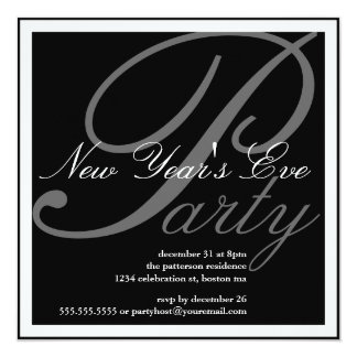 New Year's Eve Party Celebration Invitation