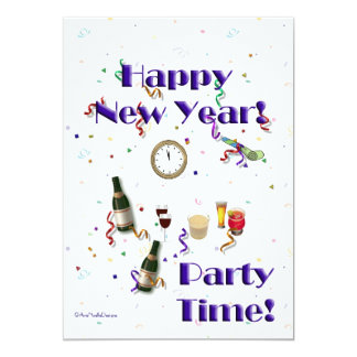 New Year's Eve Party/Champagne+Fun Card