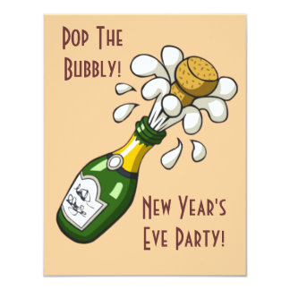 New Years Eve Party Champangne Invitations