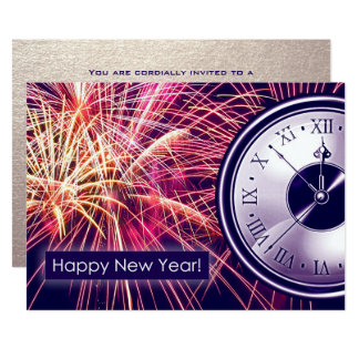 New Year's Eve Party Custom Invitation Cards