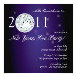New Years Eve Party Disco Ball Card