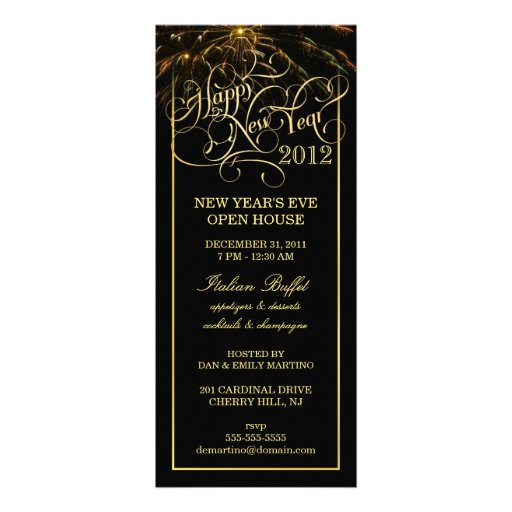 New Year's Eve Party - Elegant Formal Invitations
