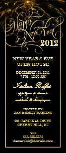 new years eve party elegant formal invitations