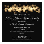 New Year's Eve Party Gold Bokeh Lights 5.25x5.25 Square Paper Invitation Card