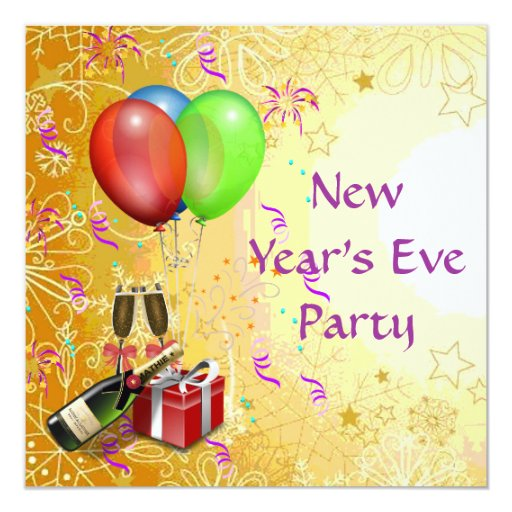 New year 39 s eve party invitation zazzle for Terrace new year party