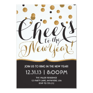 "New Year's Eve Party Invitation 5"" X 7"" Invitation Card"