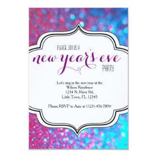 """New Year's Eve Party 3.5"""" X 5"""" Invitation Card"""