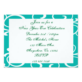 "New Years Eve Party Invitation 5"" X 7"" Invitation Card"