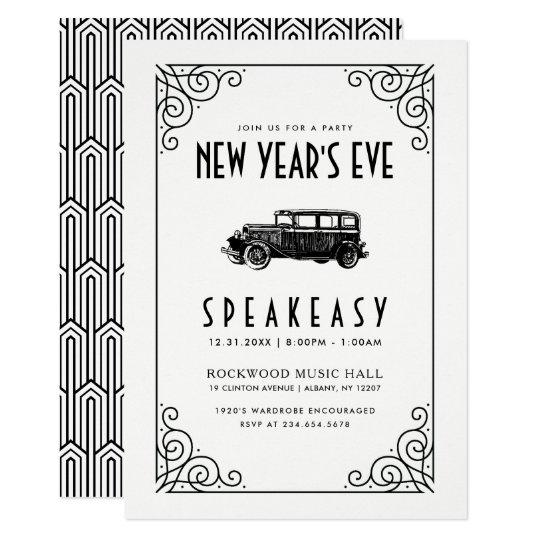 New Year S Eve Party Invitation 1920 S Speakeasy Zazzle Com