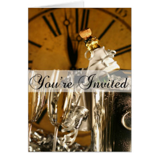 New Year's Eve Party Invitation Greeting Card