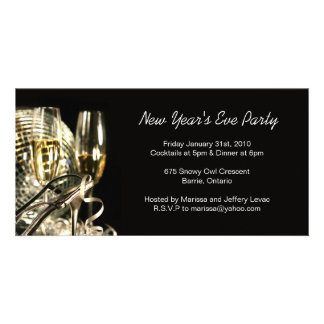 New Years Eve Party invitation Photo Card