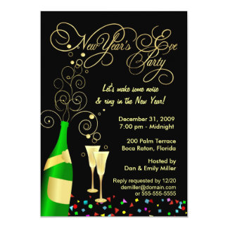 New Years Eve Party Invitations & Announcements   Zazzle