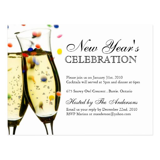 New Years Eve Invitation with luxury invitations example