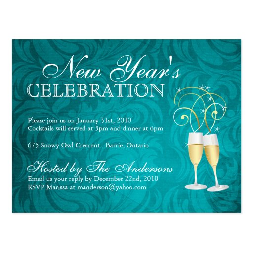 New years eve party invitations postcards zazzle for Terrace new year party