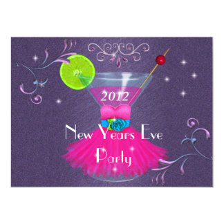New Years Eve Party Invitations with Cosmo Martini