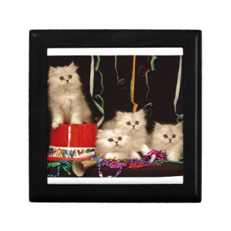 New Year's Eve Party Kittens Keepsake Box