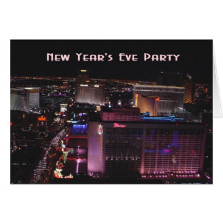 New Year's Eve Party! Las Vegas Strip Card