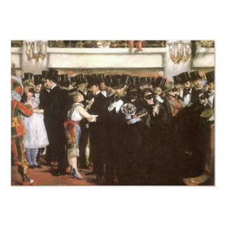 """New Year's Eve Party, Masked Ball Opera by Manet 5"""" X 7"""" Invitation Card"""