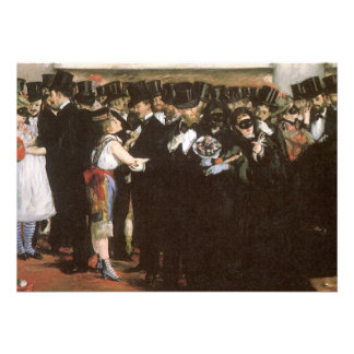 New Year's Eve Party, Masked Ball Opera by Manet Custom Invite