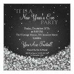 New Years Eve Party Night Sparkle Black Card