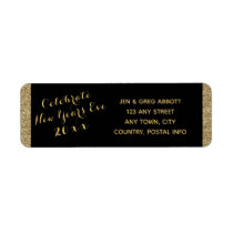 New Years Eve Party  Return Address Label
