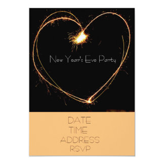 New Year's Eve party with heart sparklers Card
