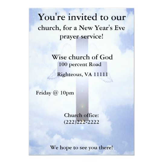 New Year\'s eve prayer Invitation | Zazzle.com