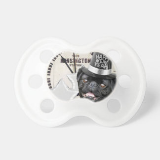 New Year's Eve pug dog Pacifier