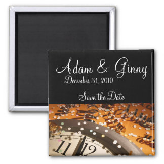 New Years Eve Save the Date 2 Inch Square Magnet