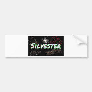 New years eve Silvester letters Bumper Sticker