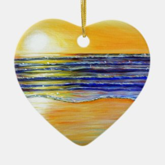 New Year's Eve Sunset Ceramic Ornament