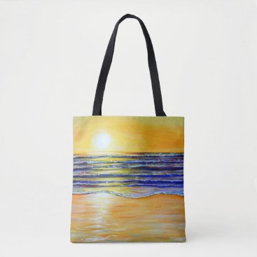 Beach Themed New Year's Eve Sunset Tote Bag