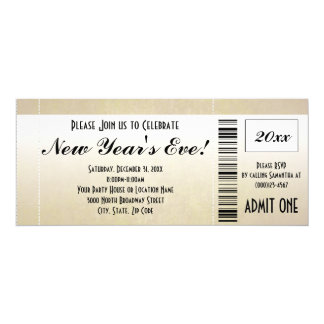 New Year's Eve Ticket Invitation
