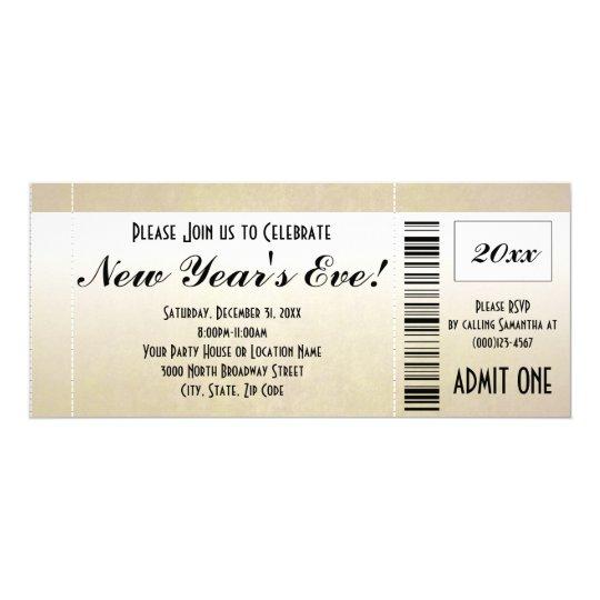 New Year\'s Eve Ticket Invitation   Zazzle.com