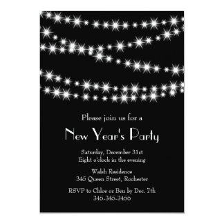 New Year's Eve Twinkle Lights 5x7 Paper Invitation Card