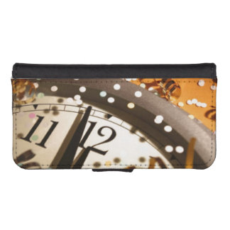 New Years Eve Wallet Phone Case For iPhone SE/5/5s