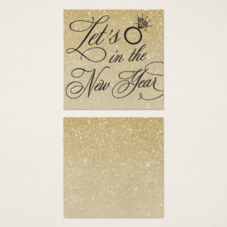 New Years Eve Wedding Invitation Name Plate Card