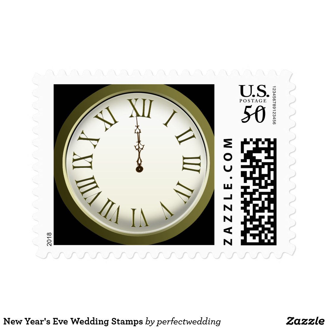 New Year's Eve Wedding Stamps